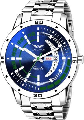 Lois Caron LCS-8075 DAY & DATE FUNCTIONING Analog Watch - For Men