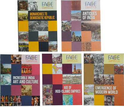 UPSC Books of HISTORY BOOKS FOR UPSC OTHER COMPETITIVE EXAMS (SET OF 5 BOOKS) ANTIQUES OF INDIA,ART AND CULTURE, AGE OF INDO -ISLAMIIC, EMERGENCE OF MODERN WORLD, MONARCHIES TO DEMOCRATIC REPUBLIC