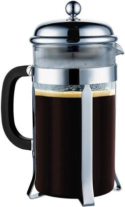 TGL Co. French Press 600ml with 3 Part Superior Filter BPA Free Borosilicate Glass Carafe Heat Resistant Handle 6 Cups Coffee Maker