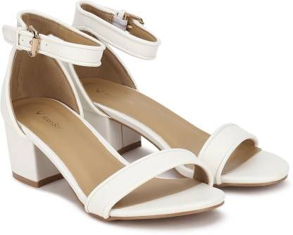 Women White Heels Sandal