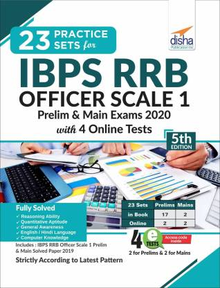 23 Practice Sets for Ibps Rrb Officer Scale 1 Preliminary & Main Exam 2020 with 4 Online Tests