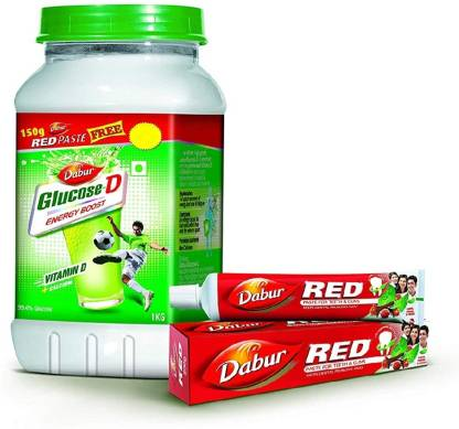Dabur Glucose D -1kg with redpaste 150gm free Energy Drink