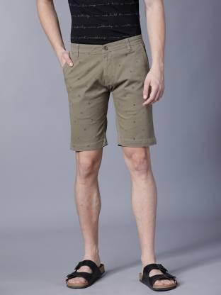 Highlander Printed Men Green Chino Shorts