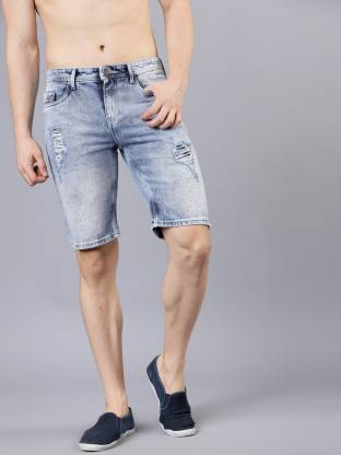 Highlander Solid Men Blue Regular Shorts