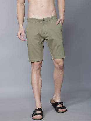 Highlander Solid Men Green Regular Shorts