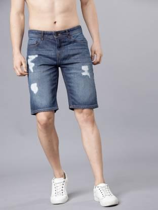 Highlander Washed Men Blue Denim Shorts