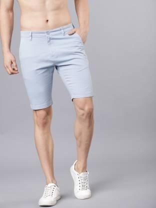 Highlander Solid Men Light Blue Chino Shorts