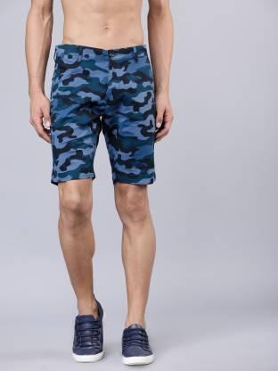 Highlander Printed Men Blue Chino Shorts