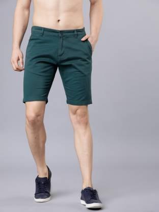 Highlander Solid Men Dark Blue Chino Shorts