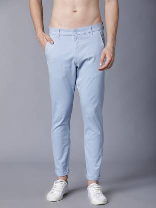 Highlander Slim Fit Men Light Blue Trousers
