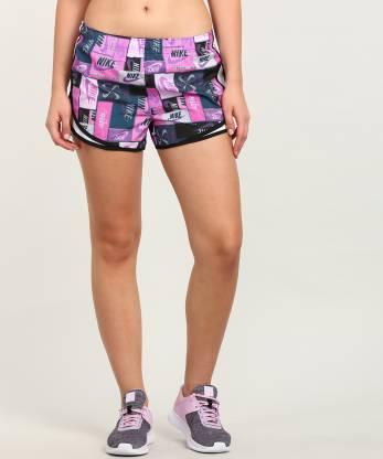 Printed Women Multicolor Running Shorts