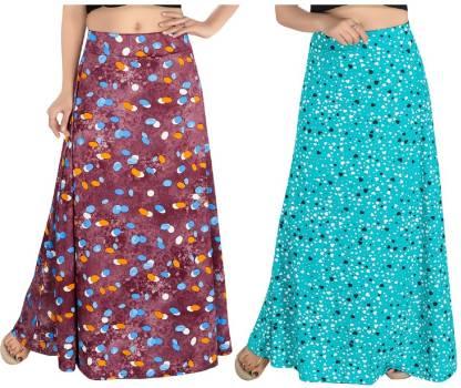 Women Printed Regular Multicolor Skirt