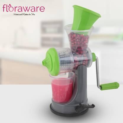 Floraware Plastic Hand Juicer Fruit   Vegetable Nano Manual Juicer , Green