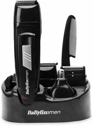 BABYLISS E824E Multi-Purpose Trimmer  Runtime: 240 min Body Groomer For Men(Black)