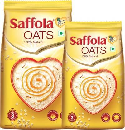 Saffola Oats, Rolled Oats, 100% natural