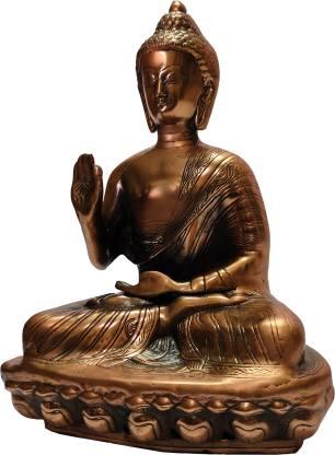 The Art Box Gautama Buddha black metal Statue Meditating Buddha Statue Decorative Showpiece  -  48 cm