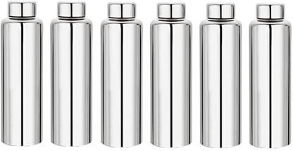 Plus Shine Stainless Steel Fridge Water Bottle Set of 6. 6000 ml Bottle