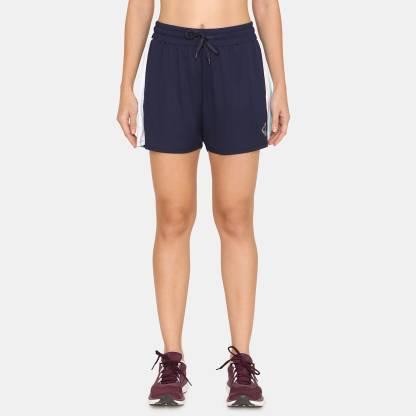 Solid Women Blue Running Shorts