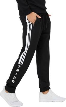 Tripr Printed Men Black Track Pants