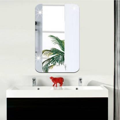 Fashionwu Removable Mirror Wall Sticker, Mirror Decoration Stickers