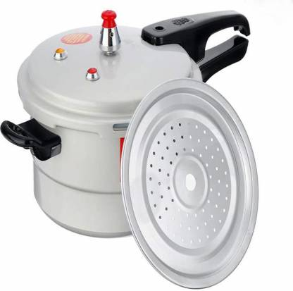 moradiya fresh Aluminium Pressure Cooker with Lid, 5 litres, Silver 5 L Induction Bottom Pressure Cooker