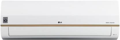 LG 1 Ton 5 Star Split Dual Inverter Smart AC with Wi-fi Connect  - White, Brown