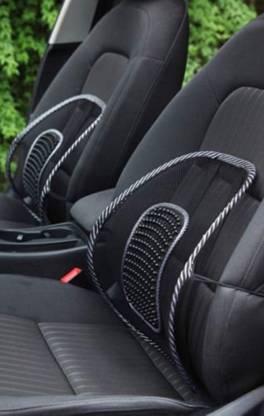 kalathiyasales Chair Back Rest Car Seat Lumber Support Lumbar Support (Black) Back Support