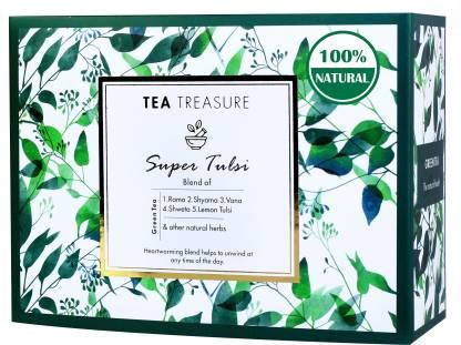 TeaTreasure Super Tulsi Green Tea Box