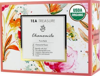 TeaTreasure Pure Chamomile Herbal Tea Bags Box