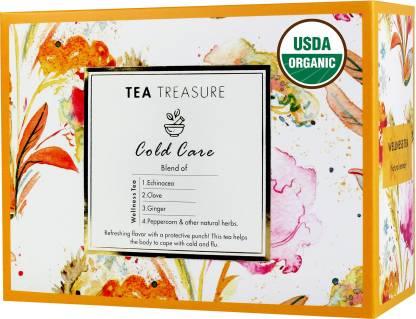 TeaTreasure Cold Care Cloves, Ginger, Herbs Herbal Tea Box