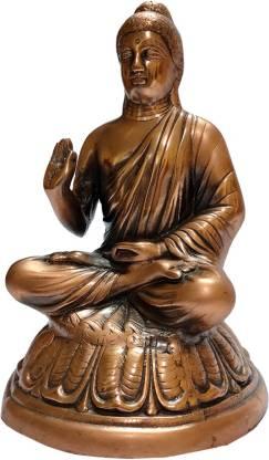 The Art Box Gautama Buddha black metal Statue Meditating Buddha Statue Decorative Showpiece  -  36 cm