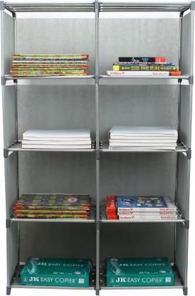 MemeHo Metal Open Book Shelf Finish Color   Grey
