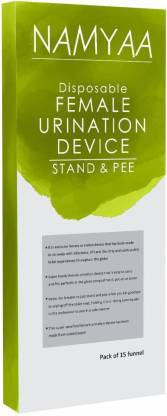 Namyaa Stand and Pee Disposable Female Urination Device Disposable Female Urination Device