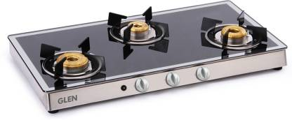 GLEN 1038 GT AI Forged Burners Mirror Glass Automatic Gas Stove