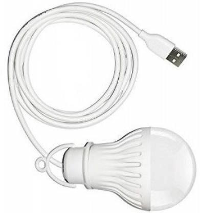 Bhani USB Wired Led Bulb USB Wired Bulb 5W USB Wired Bulb for Laptop/Desktop Led Light -A usb bulb Led Light (White) Led Light