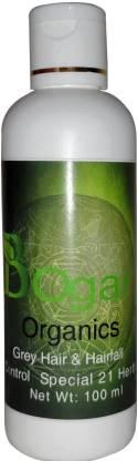 Bogar Organics Herbal Hair Oil with 21 Herbs for hair growth & control grey hair Hair Oil