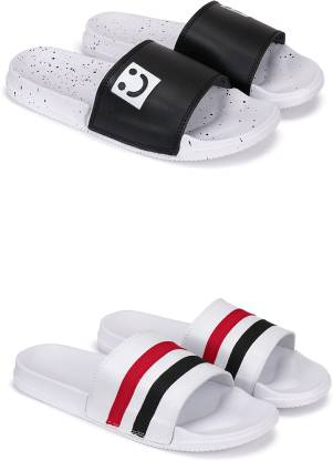 Beonza Combo Pack Of 2 PAIR Of Men Flip Flops Slippers Slides