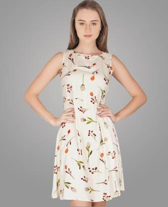 Metro Fashion Women A-line White Dress