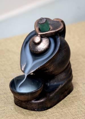Flipkart SmartBuy Hand Crafted Elegant Look Tea Kettle Design Smoke Backflow Cone Incense Holder Decorative Showpiece  -  12 cm