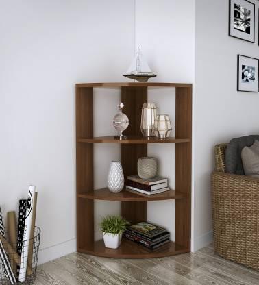 Flipkart Perfect Homes Studio Marcus Engineered Wood Open Book Shelf Finish Color   Acacia Dark
