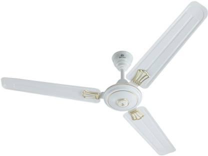 BAJAJ New Bahar Deco 1200 mm White 1200 mm 3 Blade Ceiling Fan
