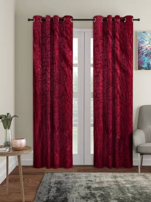 Flipkart Perfect Homes 210 cm (7 ft) Polyester Door Curtain (Pack Of 2)