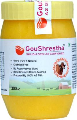 Goushrestha Shudh Desi A2 Cow Ghee 300 ml Plastic Bottle