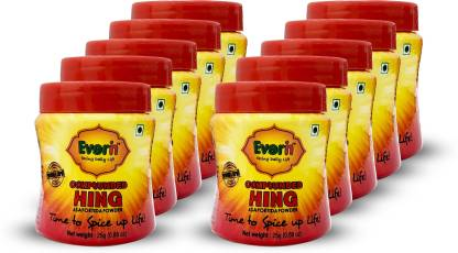 Everin Compounded Asafoetida Hing Powder Pack of 10 25gm each