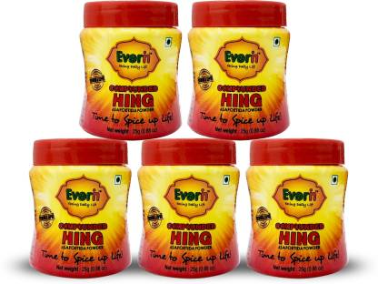 Everin Compounded Asafoetida Hing Powder Pack of 5 25gm each
