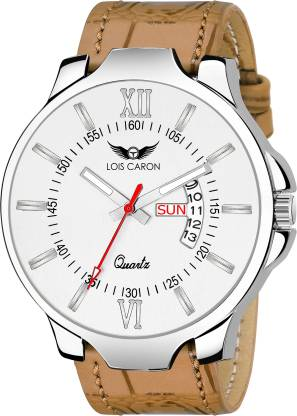 LOIS CARON LCS-4116 CROCO STRAP DAY AND DATE FUNCTIONING Analog Watch - For Men