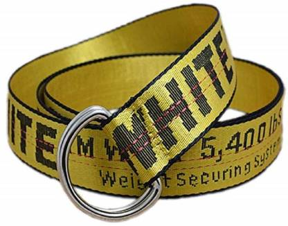 Men Casual, Party, Formal, Evening Yellow Canvas Belt
