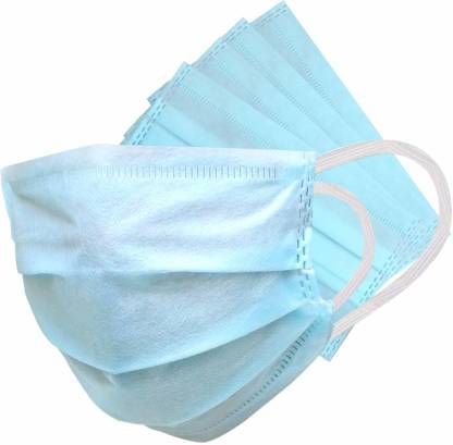 Dream Mart Standard Comfort Disposable Pollution/Surgical Elastic Mask (Pack Of 10 Pieces) Mask Face Mask with Earloops -10 Surgical Mask
