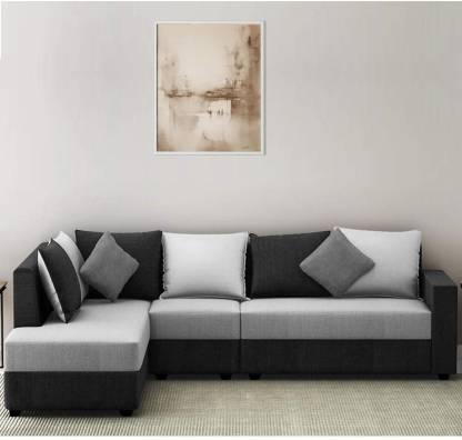 Woodcasa Urbanway 6 Seater Lhs L Shape, L Shape Sofa Set