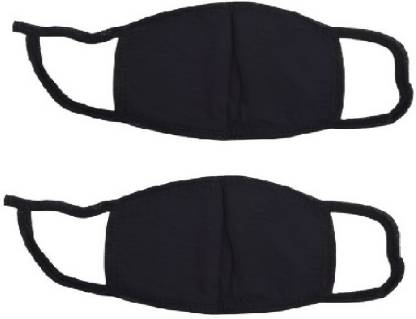 H International Hi 2 Pc Black Face Mask  (Black, Free Size,...